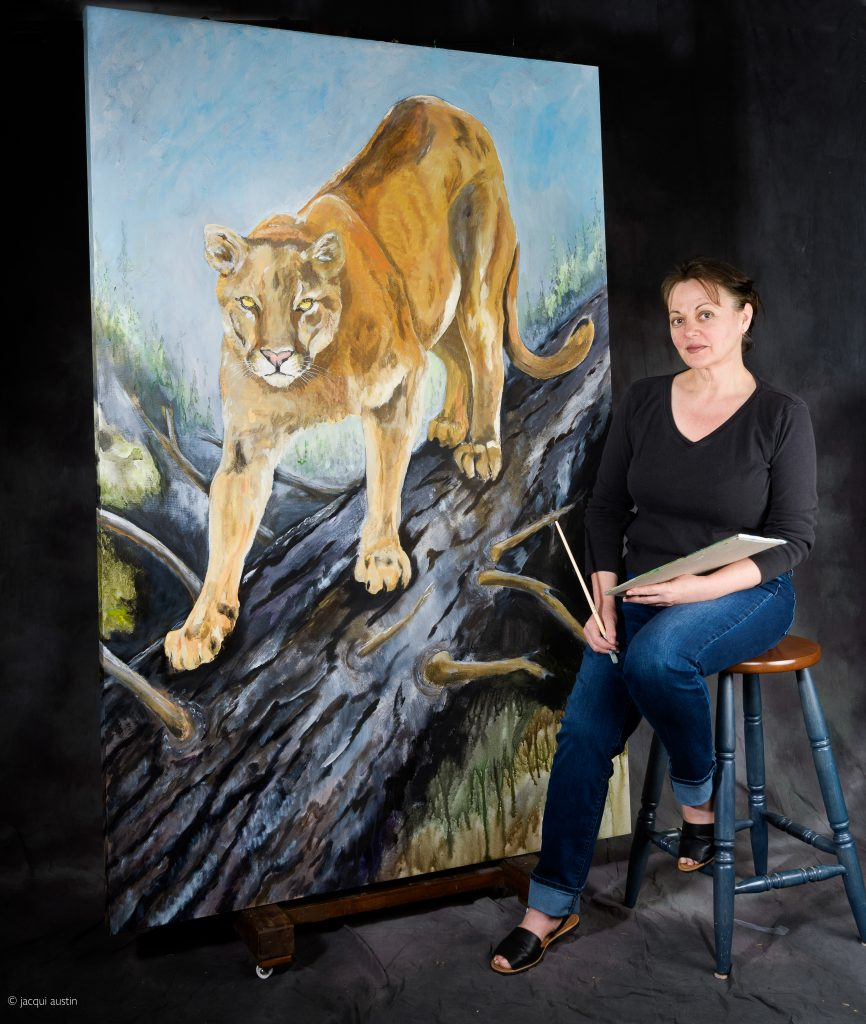 j painting cougar