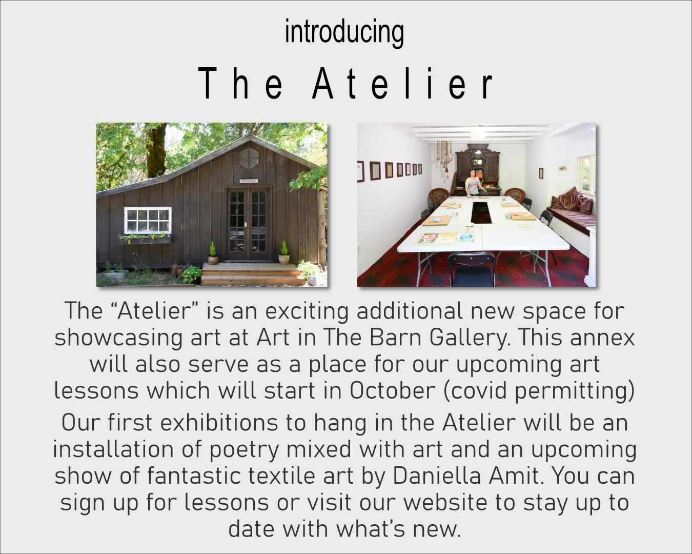 introducing the atelier